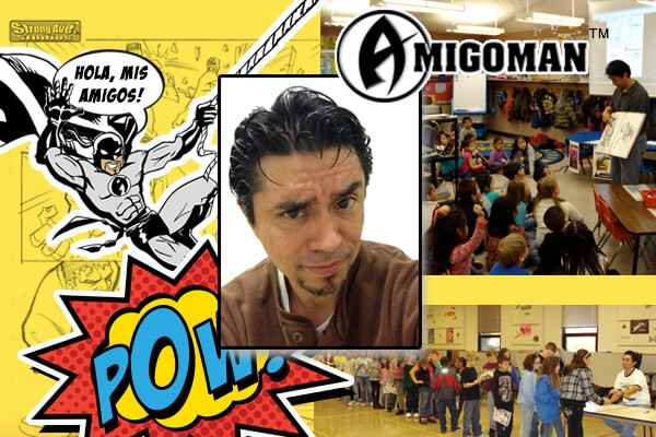 Anthony Oropeza and AmigoMan, the Latin Avenger