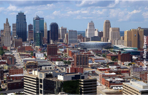 Downtown KC by Flickr user Allen Brewer