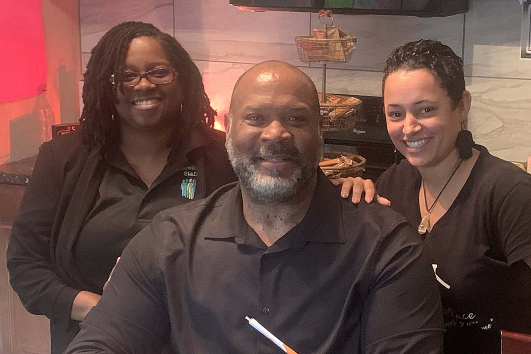 KC business owners Latasha Crawford, Darryl Johnson and Patricia McCreary