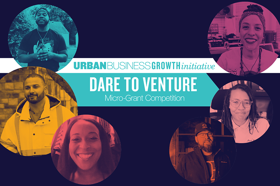 Six top winners of the Dare to Venture Micro-Grant Competition