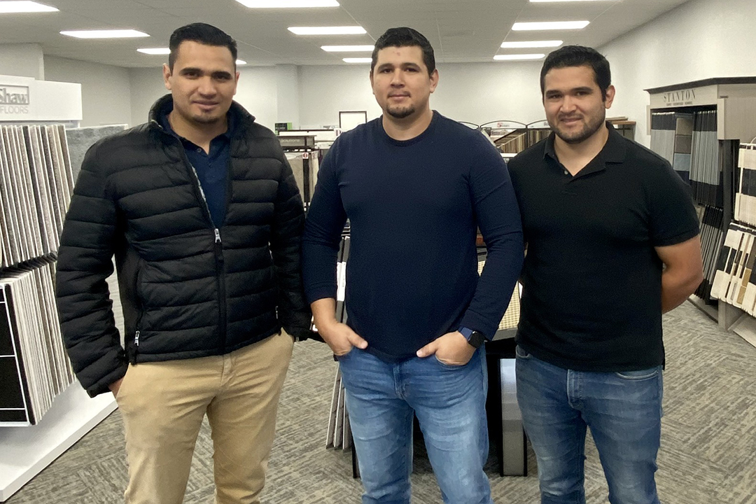 KC entrepreneurs Ivan, Jamie and Romero Guizar of Evergreen Flooring