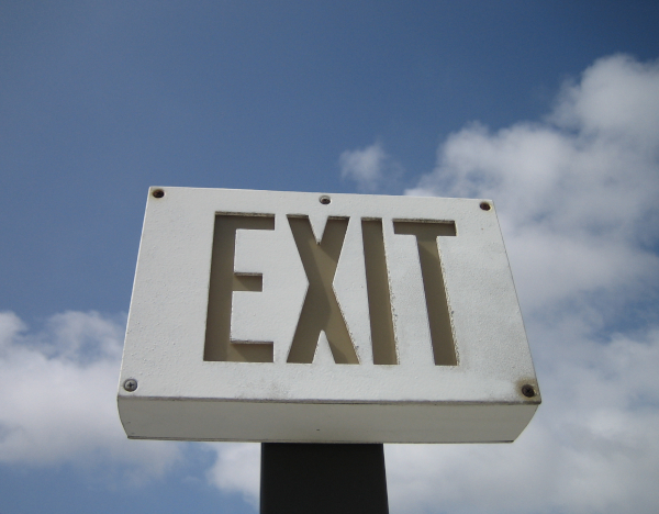 exit sign small business exit strategy