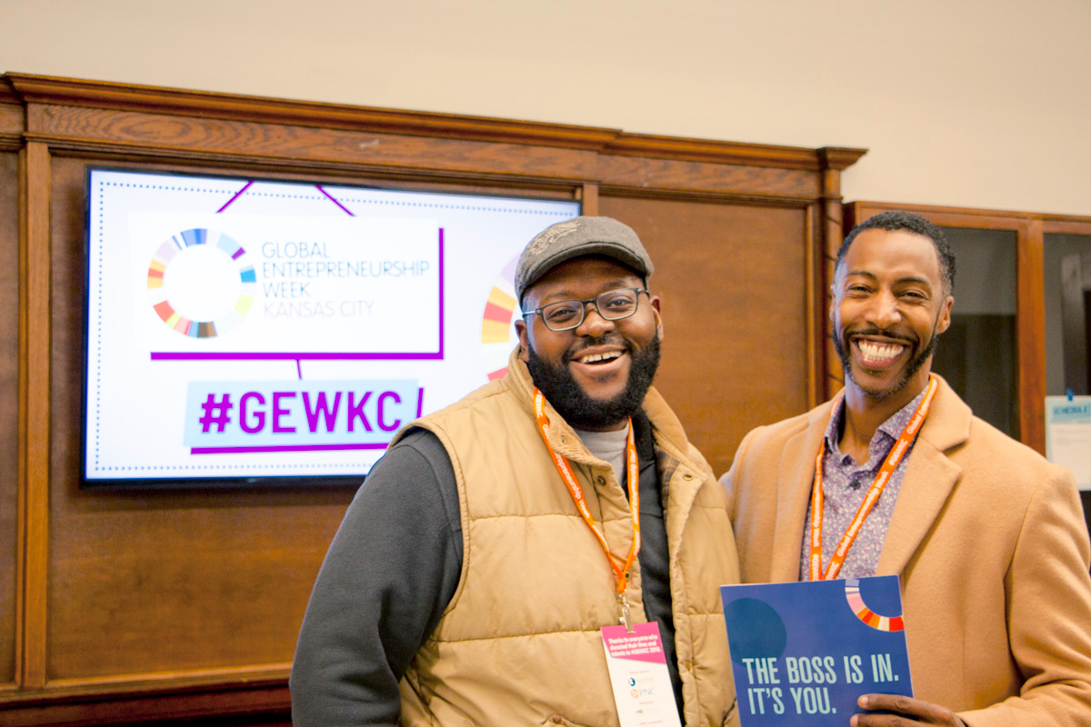 Two GEWKC attendees pose for a photo