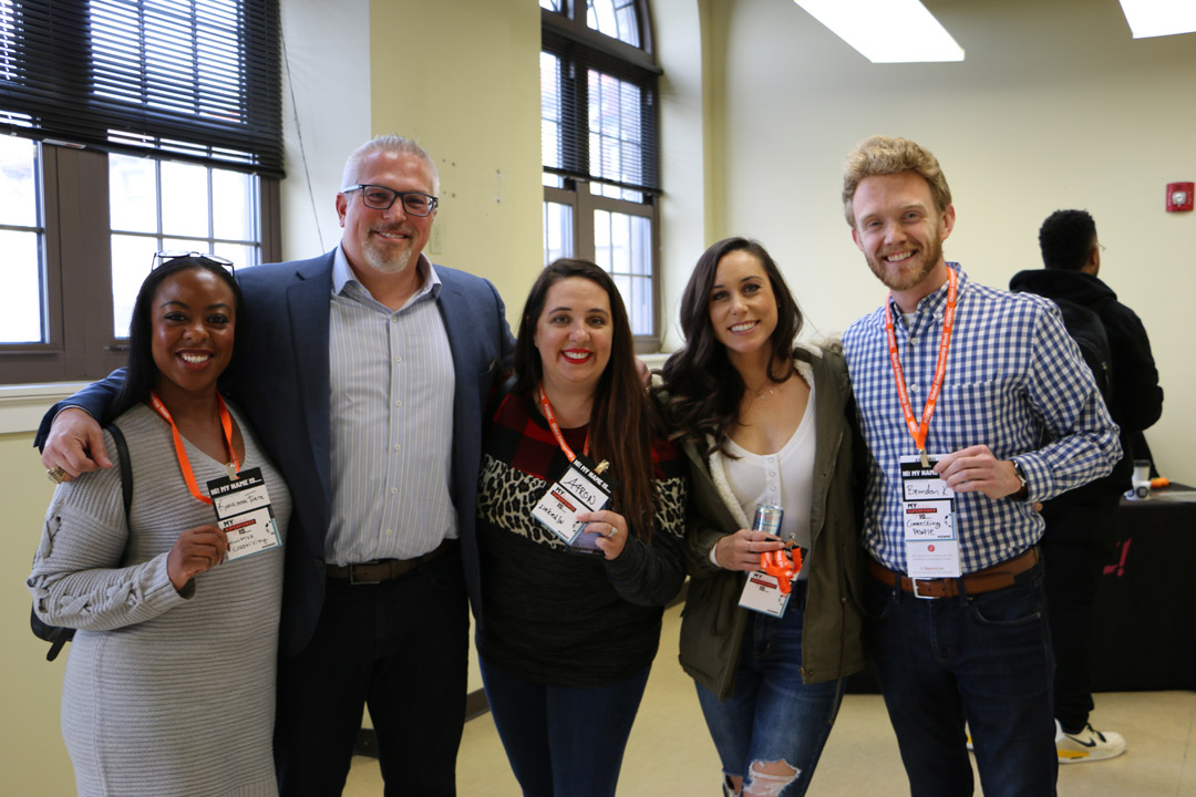 Entrepreneurs pose for a photo at GEWKC 2019