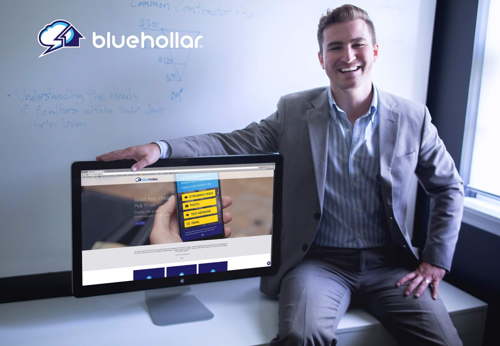 Kalen Barker, founder of BlueHollar
