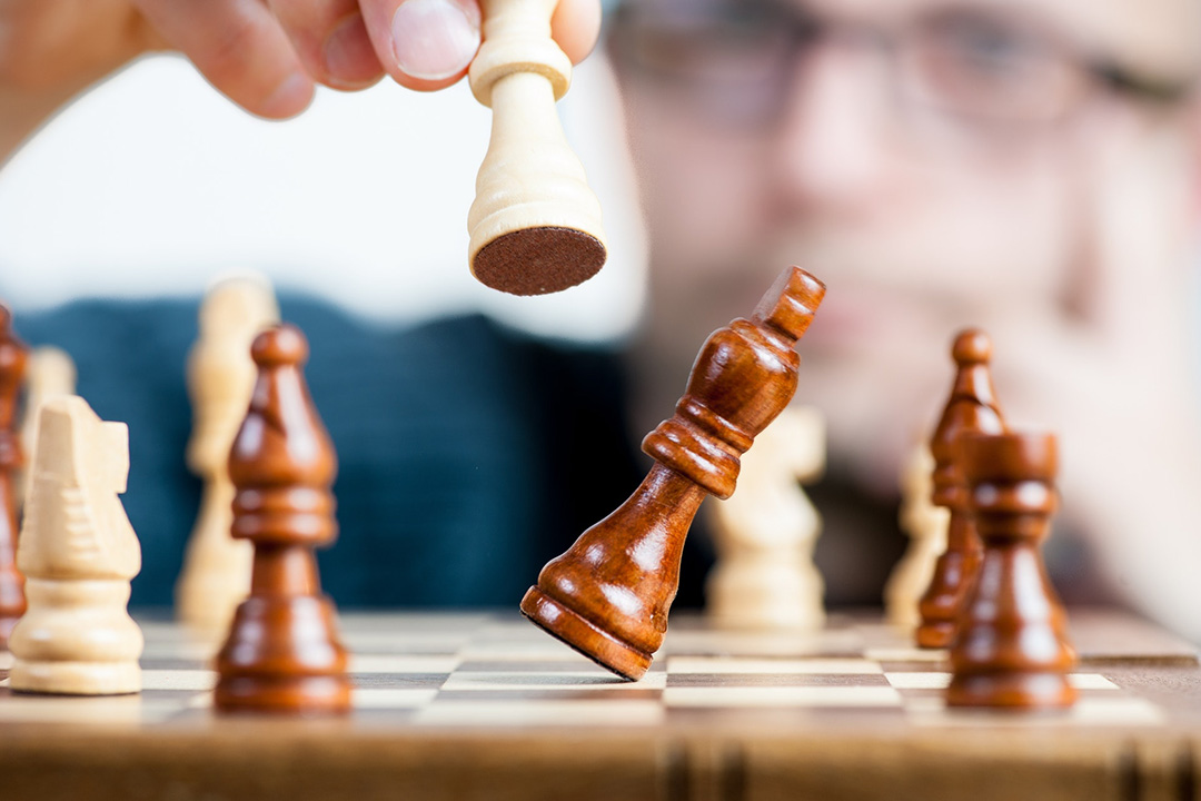 In a game of chess, a king is eliminated