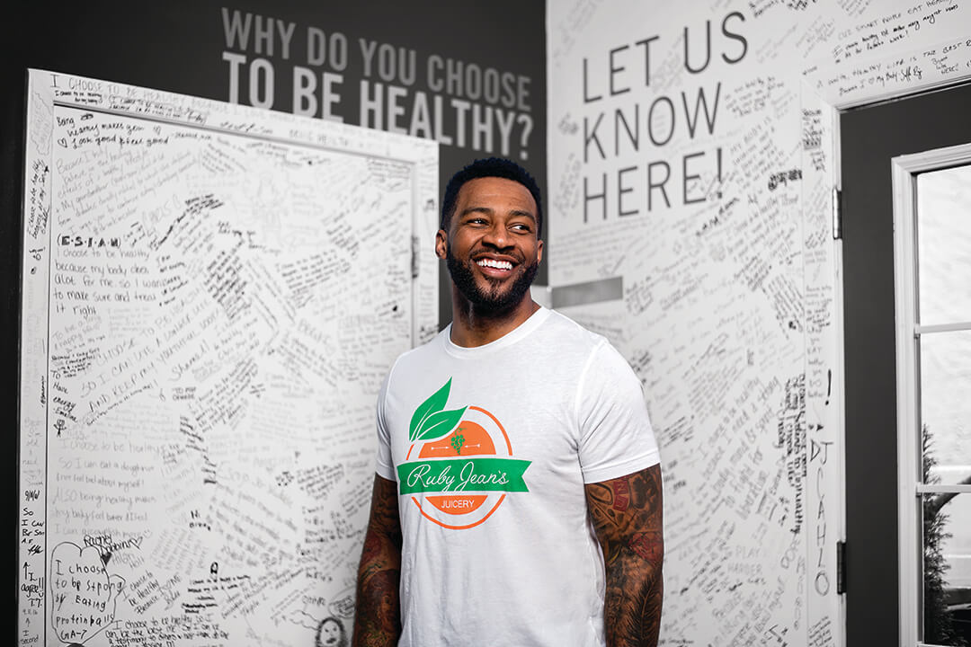 Chris Goode, owner of Ruby Jean's Juicery