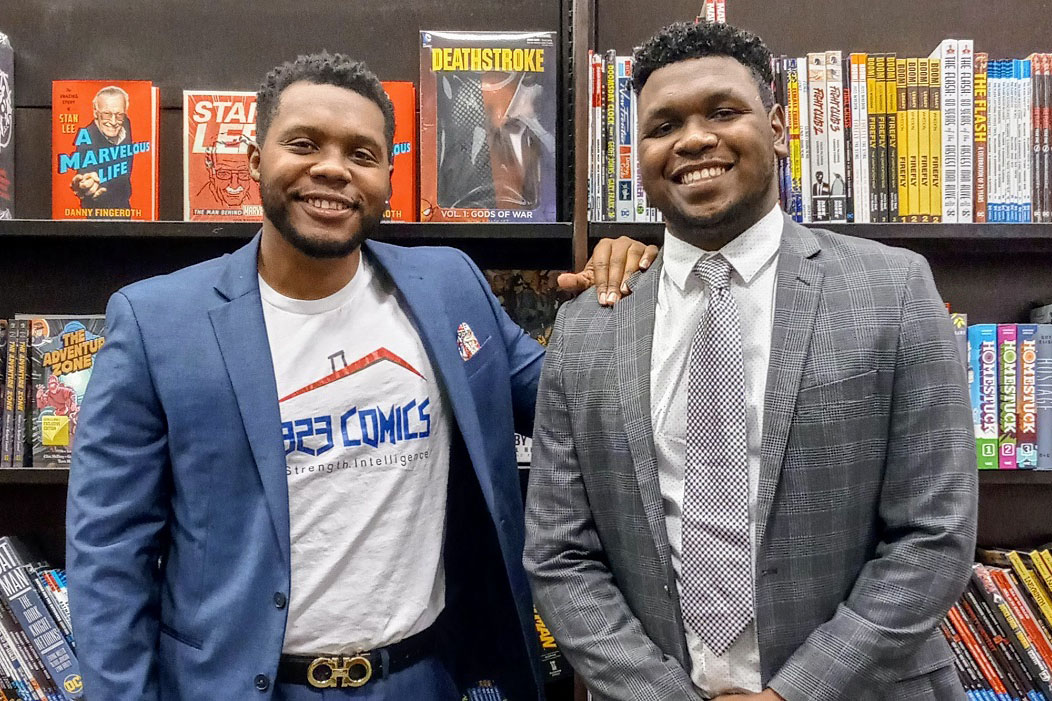 Juaquan Harron (left) and Rodney McDuffie II, founders, The Vendors Assistant